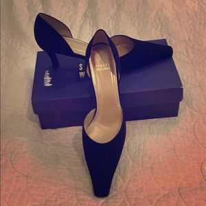 Stuart Weitzman black silk d'Orsay pumps BRAND NEW